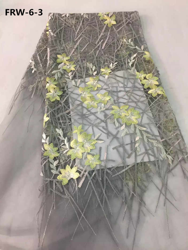Красивые цветочные французские кружева нигерийские Свадебные платья, ткань, оптовая продажа, африканские тюлевые сетчатые шнурки, ткани для вечеринки, RFW-6