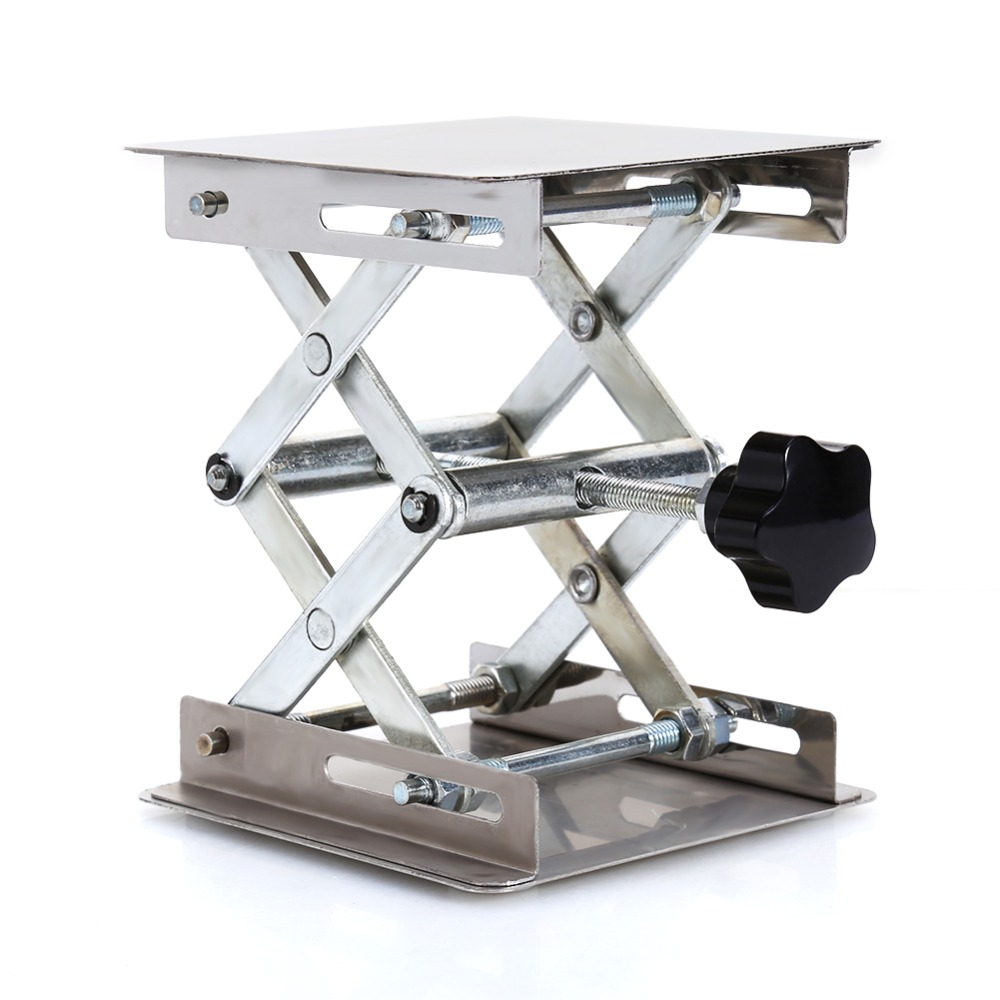 Laboratory Lifting Platform Steel Scissor Stand Rack Adjustable Lab Stand Table Mini  Scissor Lifter Rack Steel Lifting Platform(China)