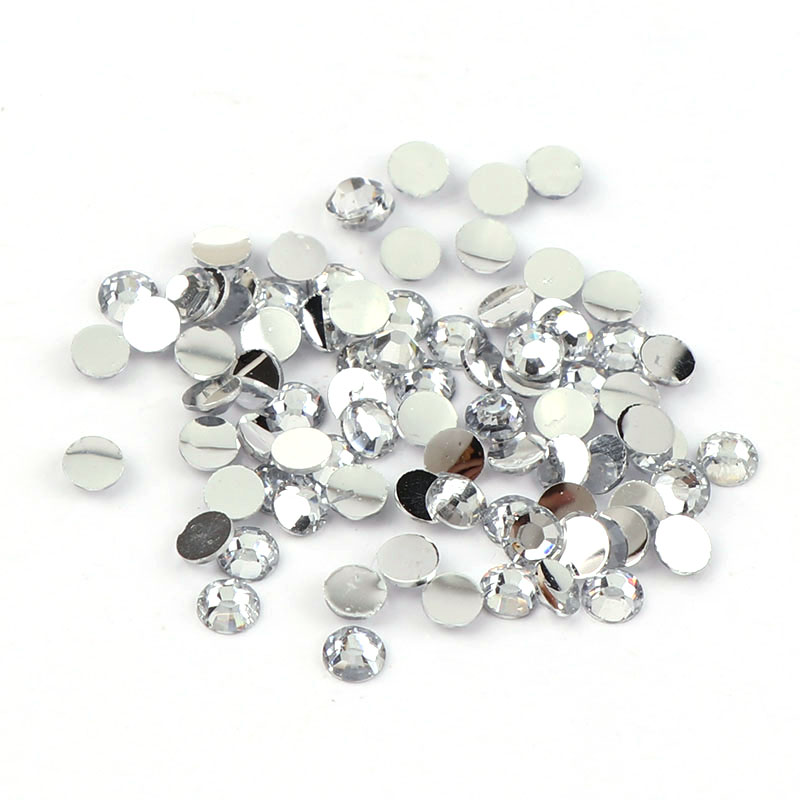 New Arrivals 10000pcs/bag 2mm/3mm/4mm/5mm Clear Crystal 14 Facets Round Resin Flatback Rhinestones DIY Phone Shoes Decorations 12 facets of a crystal