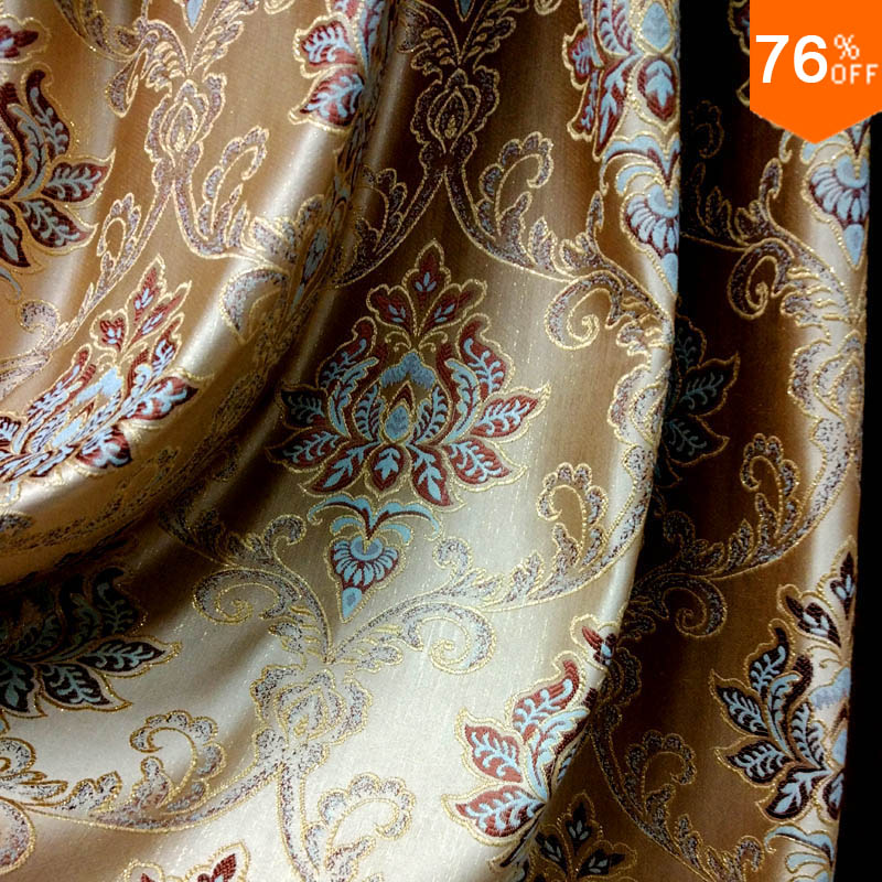 Luxury European Style New Embroidery Drapery Curtain Material curtains luxury barpque Euro Flower Embroidery Curtains Finished