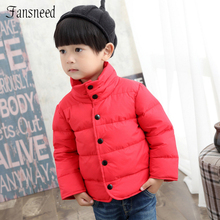 2016 new winter jacket thick warm cotton – padded clothes solid color children's clothing Boy coat