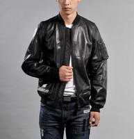 Бесплатная доставка. Новый Классический MA1 jacket.100 % толстые дубленка, в японском стиле натуральная кожа Куртки. Высокое качество продаж
