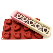 3D Heart Shape Soap Mold Cake Chocolate Mould DIY Handmade Dessert Making Tools