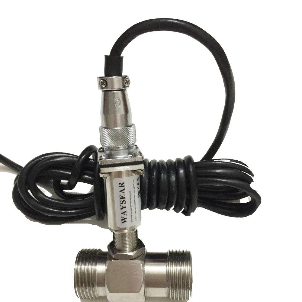 LWGY DN15 Série Liquide Turbine débitmètre capteur de débit à turbine signal D'impulsion débitmètre fileté raccords de Turbine débitmètre