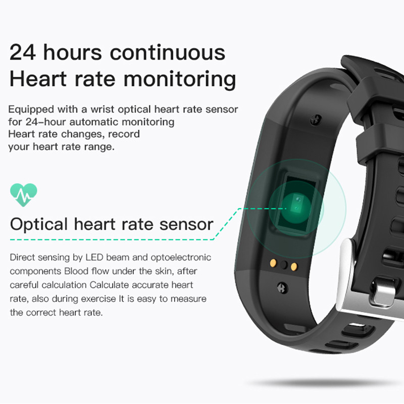 Hembeer H26S Smart Bracelet 0.96 inch Color Screen Fitness Stop Watch Band Heart Rate Monitor Blood Pressure Watch pk fitbits 1