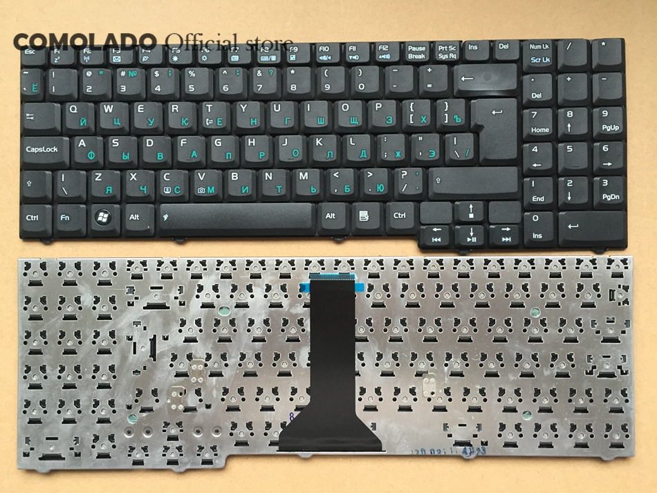 RU Russia Keyboard For Asus M51 M51V M51E M51Q M51S M51A M51T M51TA M51K F7 F7E F7F F7S F7Z Laptop Keyboard RU Layout Replacement Keyboards     - title=
