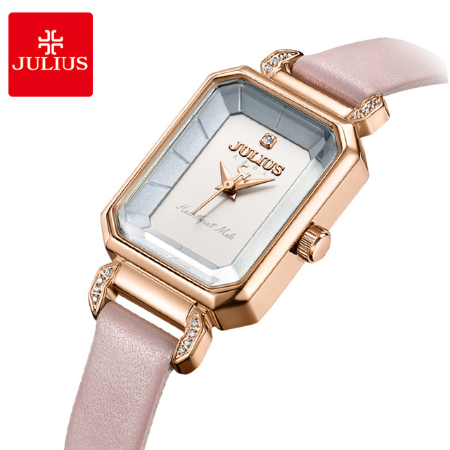 JULIUS Women Luxury Rhinestone Quartz Wrist watches ladies Rectangle Relojes Lea
