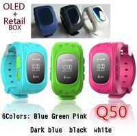Biidi Q50 GPS Relógio Rastreador Para Crianças SOS Emergência Anti Perdido GSM de Telefonia móvel Inteligente Pulseira Pulseira de Alarme para Android iOS App