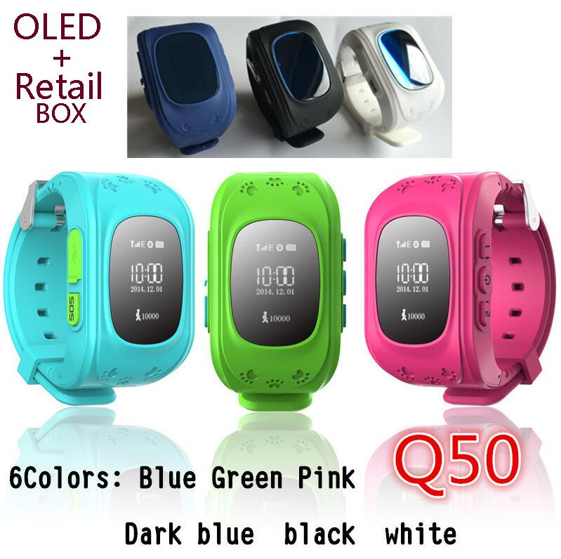 Biidi Q50 <font><b>GPS</b></font> <font><b>Tracker</b></font> Watch For Kids SOS Emergency Anti Lost GSM Smart Mobile Phone App Bracelet Wristband Alarm for Android iOS
