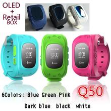 Biidi Q50 GPS Tracker Watch For Kids SOS Emergency Anti Lost GSM Smart Mobile Phone App Bracelet Wristband Alarm for Android iOS(China)