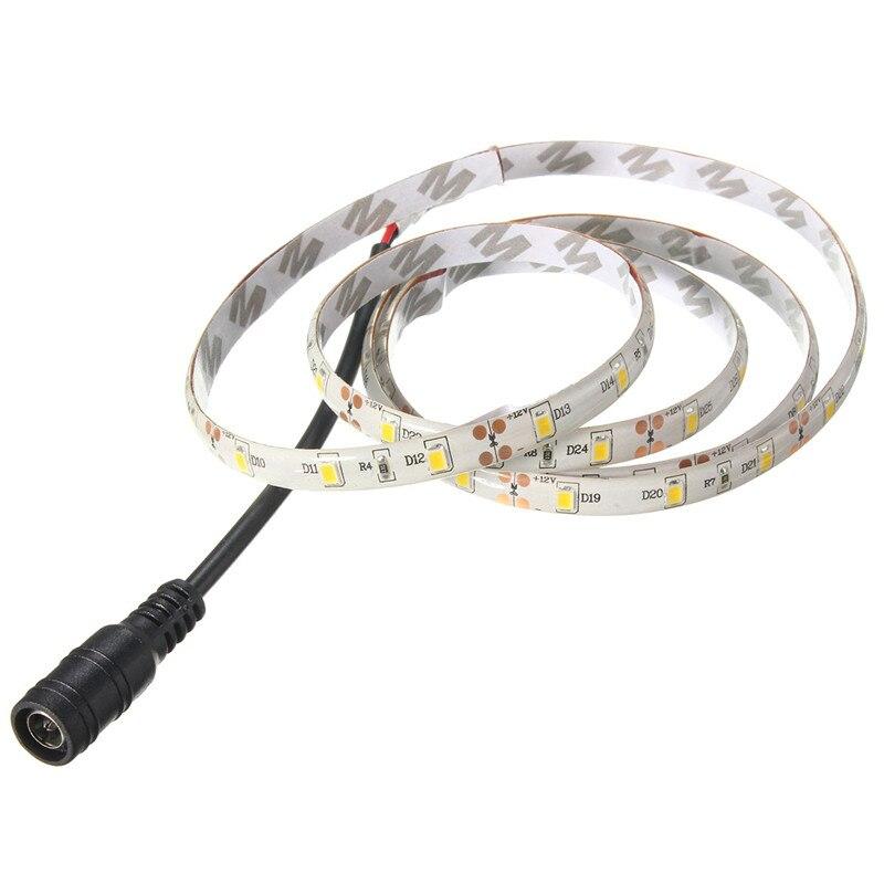 Светодиодный Водонепроницаемый полосы света 3528 SMD 60 светодиодный 1 м теплый белый/синий/красный гибкий светодиодный свет + 12 В Питание + димм...