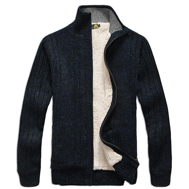 f4592e32d Grosso Comprida Manga Blusas Camisola Outerwear Casaco Malha De 5Y75qrxd