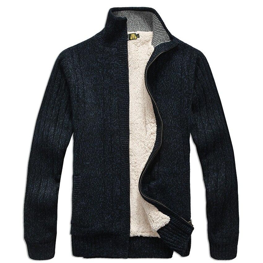 Hommes chandails à manches longues décontracté cardigan épais chandail à tricoter chandail d'extérieur manteau hiver pour les hommes