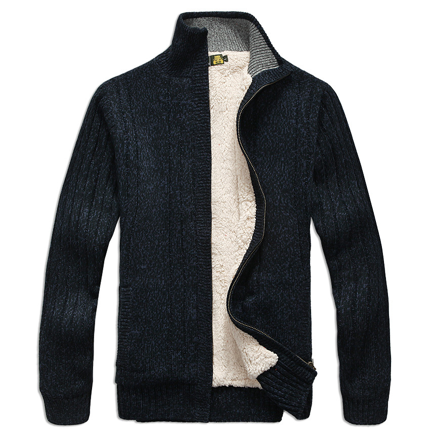Herre sweater Langærmet Casual cardigan tyk sweater strikke sweater outerwear frakke vinter til mænd
