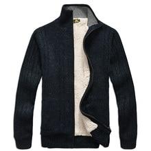 Мужские кофты с длинными рукавами свободного покроя кардиган толстый свитер вязание свитера верхняя одежда пальто зимой для мужчин
