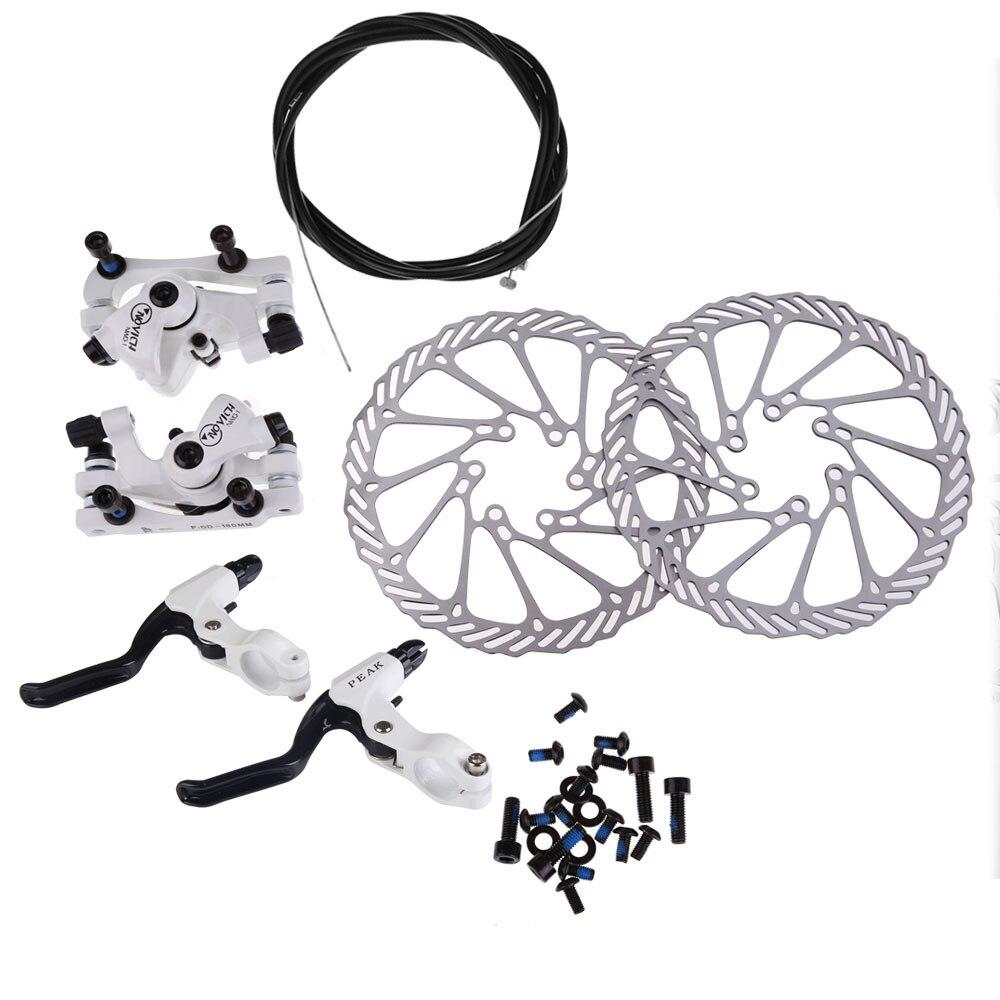 Cycling NWQ-1 Bicycle Disc Bra Brake Levers Cable Bicyke Set Kit G3 Rotors 160mmcle Brake EA14 ...