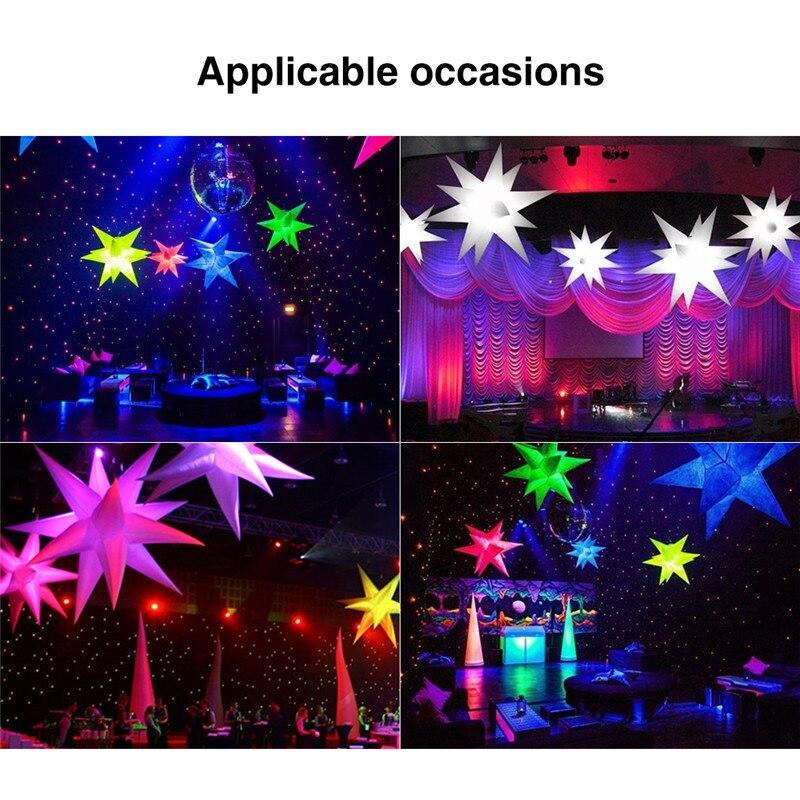 2 m Opblaasbare Star LED Light 16 Kleuren Veranderen met LED Licht en Innerlijke Blower voor Sky Verlichting Night Club reclame Decor-in Opblaasbare Bouncers van Speelgoed & Hobbies op  Groep 3