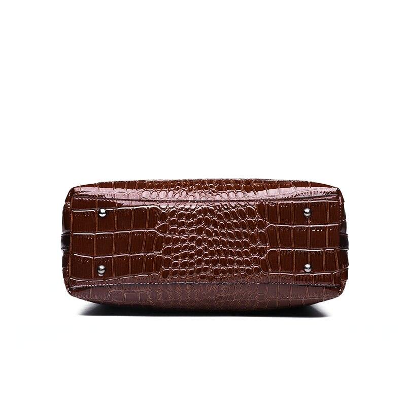 Moda Luksuzni Slavni Brand Krokodil Torba Ženska koža Torba na rame - Torbe - Foto 5
