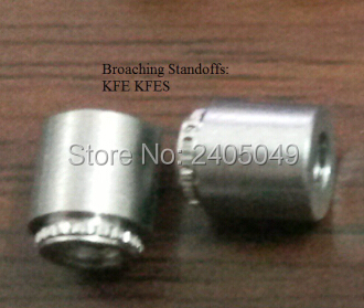 KFE-3.6-8 Broaching Standoffs Us in PCB Carbon steel Electro-palted Tin PEM Standard In Stock No Thread
