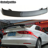 A3 Modified R Style Carbon Fiber Rear Trunk Lip Spoiler Car Wing for Audi A3 S3 RS3 S Line Universal Car Styling
