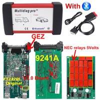 Multidiag Pro Bluetooth 2016.00/2015.R3 Free Keygen V3.0 NEC 9241A Double Green PCB CDP TCS Pro OBD2 Car Truck Diagnostic Tool