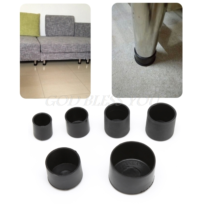 4x Rubber Chair Ferrule Anti Scratch Furniture Feet Leg Floor Protector Caps