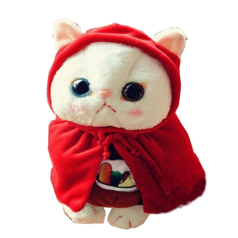 Big Eyes Garfield Cat With Superman suitting Korea stuffed cat toys for baby birthday present Super cute cartoon choo Cat