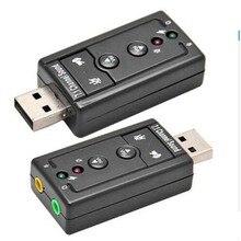 חיצוני 3D וירטואלי 7.1 ערוץ אודיו כרטיס קול מתאם USB למחשב נייד למחשב WIN7 8 חדש חדש