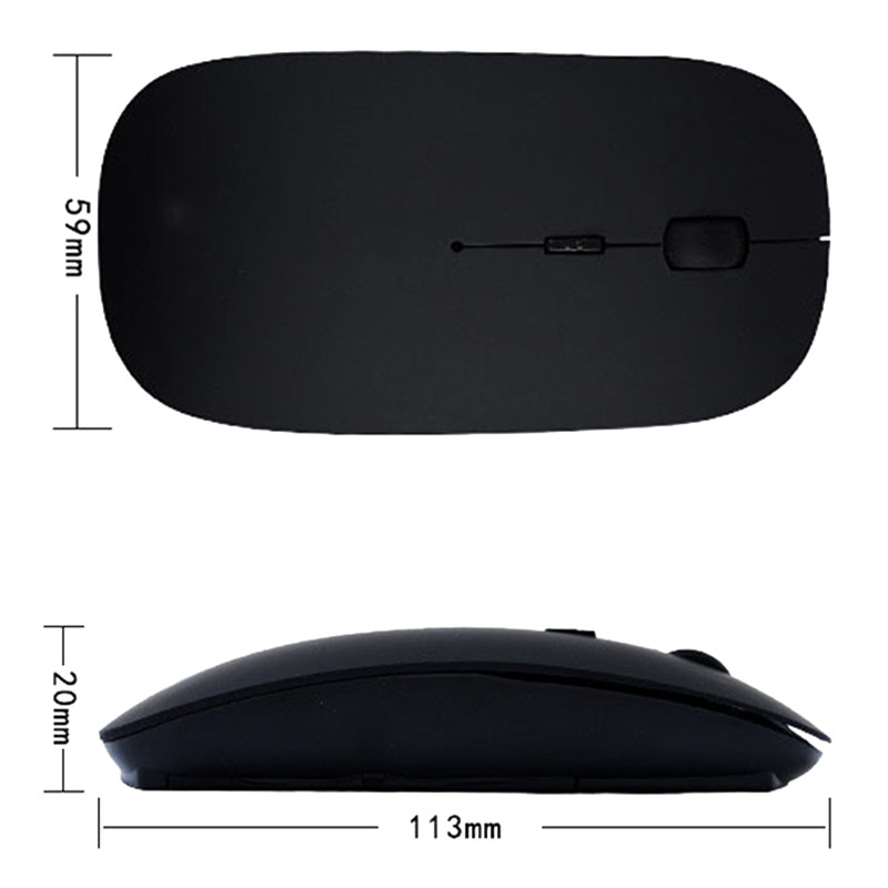 Neo Star Mini Optical Wireless Mouse 2.4Ghz With USB Receiver Thin Mice For Laptop Notebook PC Desktop Computer For Macbook Mac