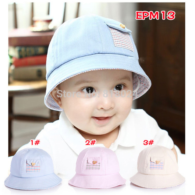 f9295dc0914 Wholesale Retail Kids Sun Hat Little boys girls bucket hat Easter Bonnet  Baby Girl Bucket Hat Summer cotton Hat for 1-3 Yrs
