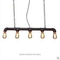 Лофтовый, американский, промышленный стиль подвесной светильник ретро деревенский стимпанк металлическая труба Эдисона лампы для бара под