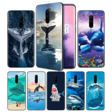 Funny Animal Whale Soft Black Silicone Case Cover for OnePlus 6 6T 7 Pro 5G Ultra-thin TPU Phone Back Protective Fundas Coque