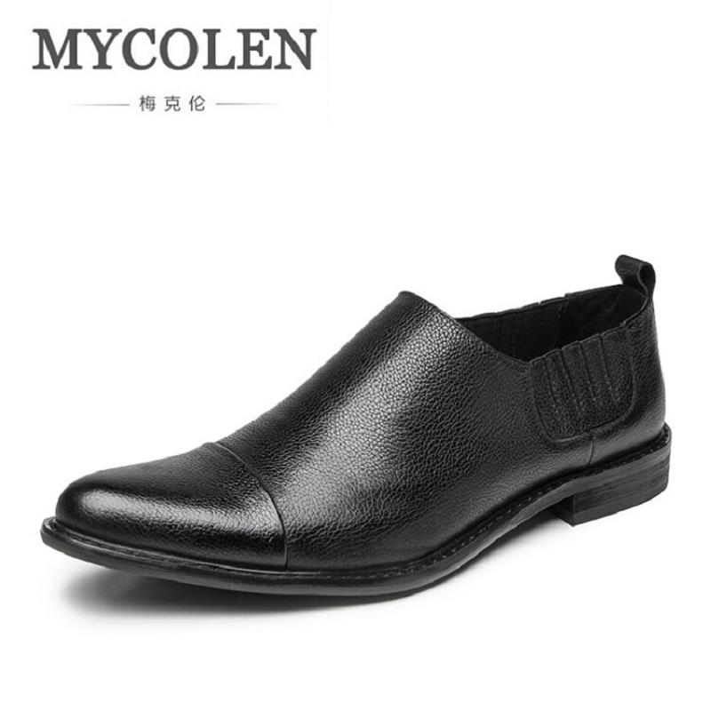 MYCOLEN Men Casual Shoes Fashion Leather Shoes For Men Summer Men'S Flats Classic Loafers Shoes Dropshipping mocassin homme mycolen casual shoes men genuine leather shoes soft comfortable male footwear men s shoes brand black loafers mocassin homme