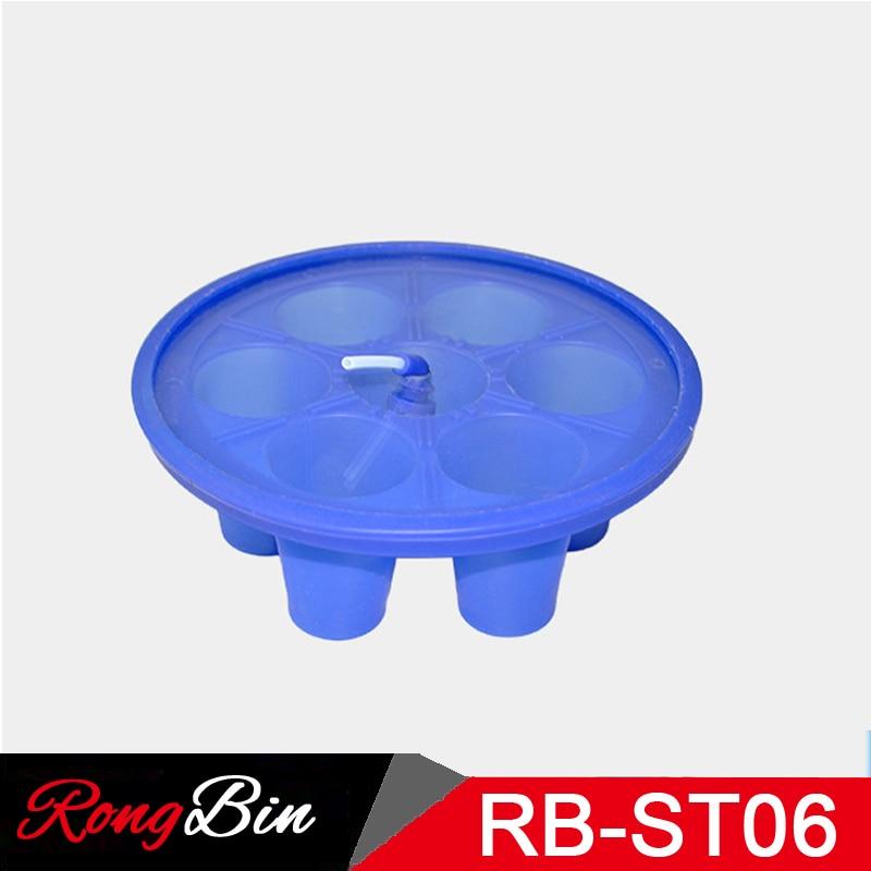 Sublimation Printer 6 in 1 3D Sublimation Silicone Shot Glass Wraps Rubber Fixture