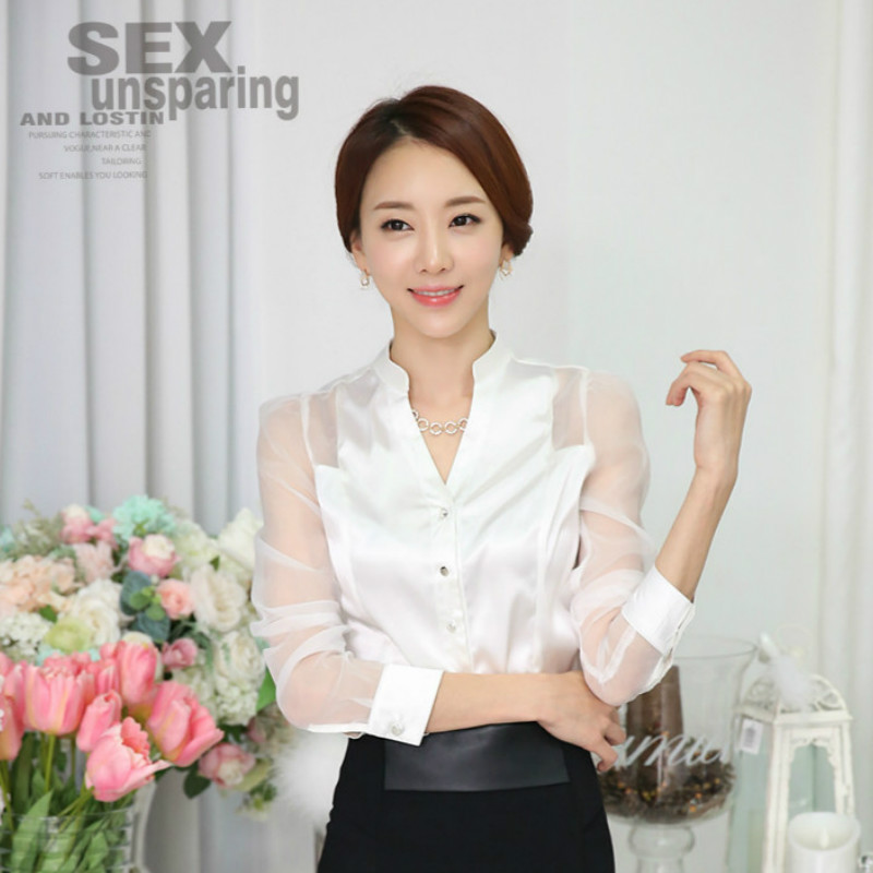 Compare Prices on White Silk Blouses for Women- Online Shopping ...