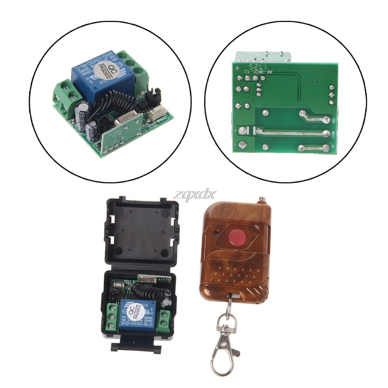 DC 12v 10A relay 1CH wireless RF Remote Control Switch Transmitter+ Receiver 433MHz/315Mhz Z17 Drop ship wireless remote control switch dc 12v mini relay rf remote switch radio controller 1ch receiver transmitter 315mhz 433mhz