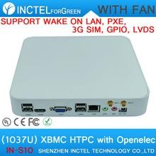Фондовый продавать mini pc с вентилятором Поддержка Wake on LAN PXE 3 Г SIM GPIO LVDS