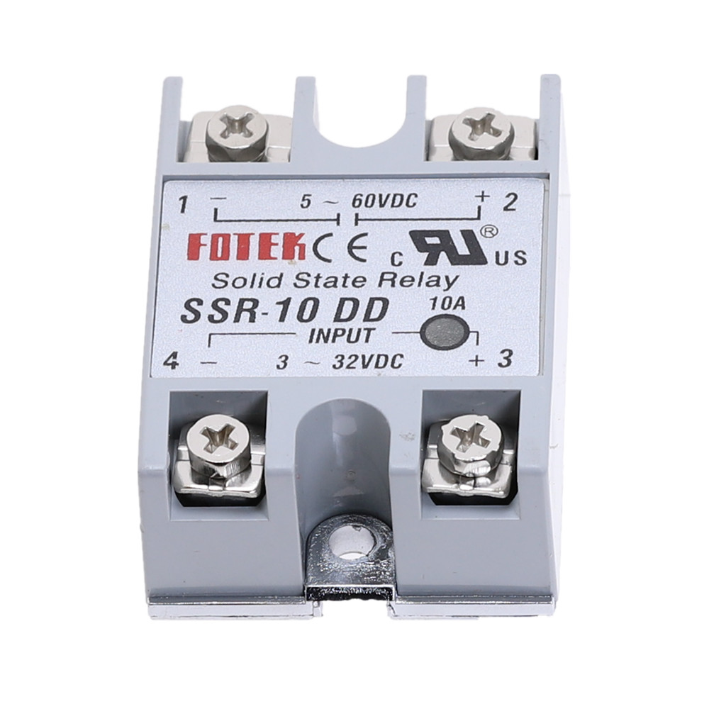 Solid State Relay SSR-10DD 10A//5-60VDC 3-32VDC