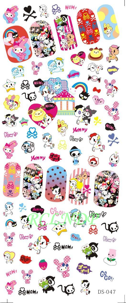 купить Water sticker for nail art all decorations sliders unicorn nails design decals manicure lacquer accessoires for kids women girls дешево