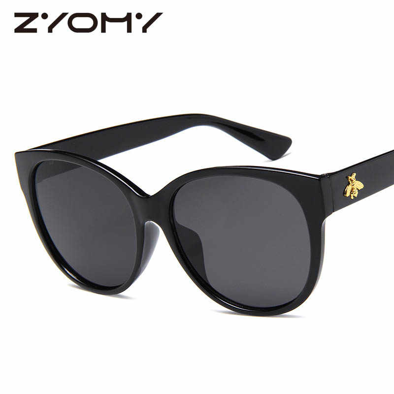 9c69e95a6a ... Brand Designer Oversized Honey Bee Eyewear Vintage Women Goggles Big  Frame Retro Glasses Clear Lens Men ...