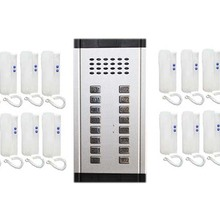 XinSILu охранных прямой Пресс ключ аудио-телефон двери для 16 квартиры, 2-проводной аудио домофон