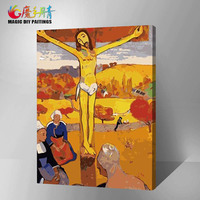 Frameless Digital Oil Paint Painting By Numbers Diy Picture Drawing On Canvas Oil Painting By Hand