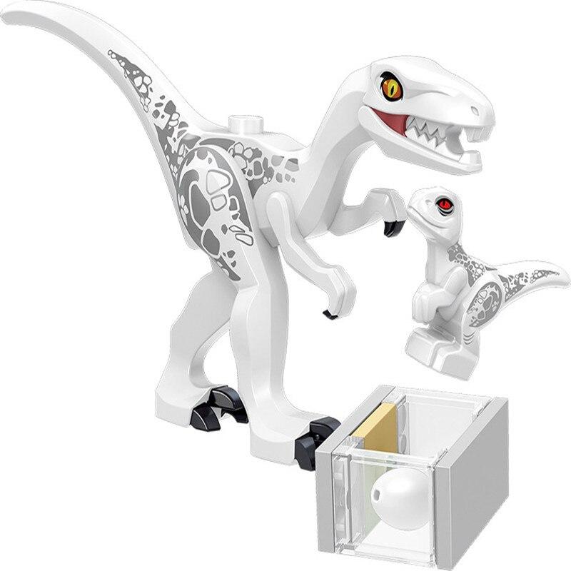 8Pcsset Legoingly Mini Big Dinosaurs Dinosaur Egg Building Blocks Jurassic Triceratops Velociraptors Lot Sets Toys for Children (8)