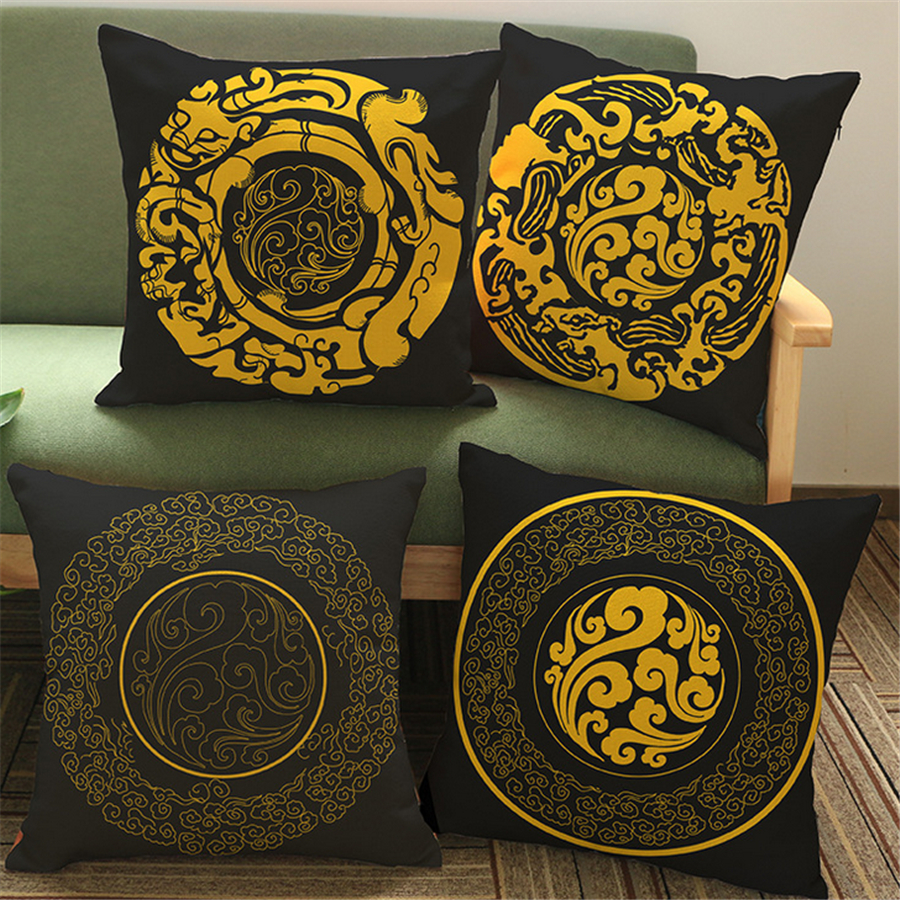 engless pattern decorative pillows for sofa fundas cojines decorativos cheap yellow cushion covers decoration new year