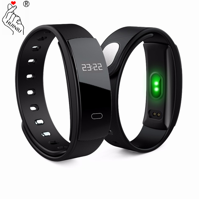 HUINIU QS80 Bluetooth Smartband Message Reminder Smart Band Blood Pressure Wristband Fitness Tracker Bracelet for IOS Android mymei bluetooth pedometer tracker smartband remote camera wristband for android ios sc