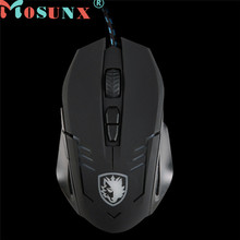 Mosunx Advanced 2017 comfortable mini 6 Buttons 2500 DPI Wired Gaming Mouse LED Optical Game Mice For PC Laptop 1PC