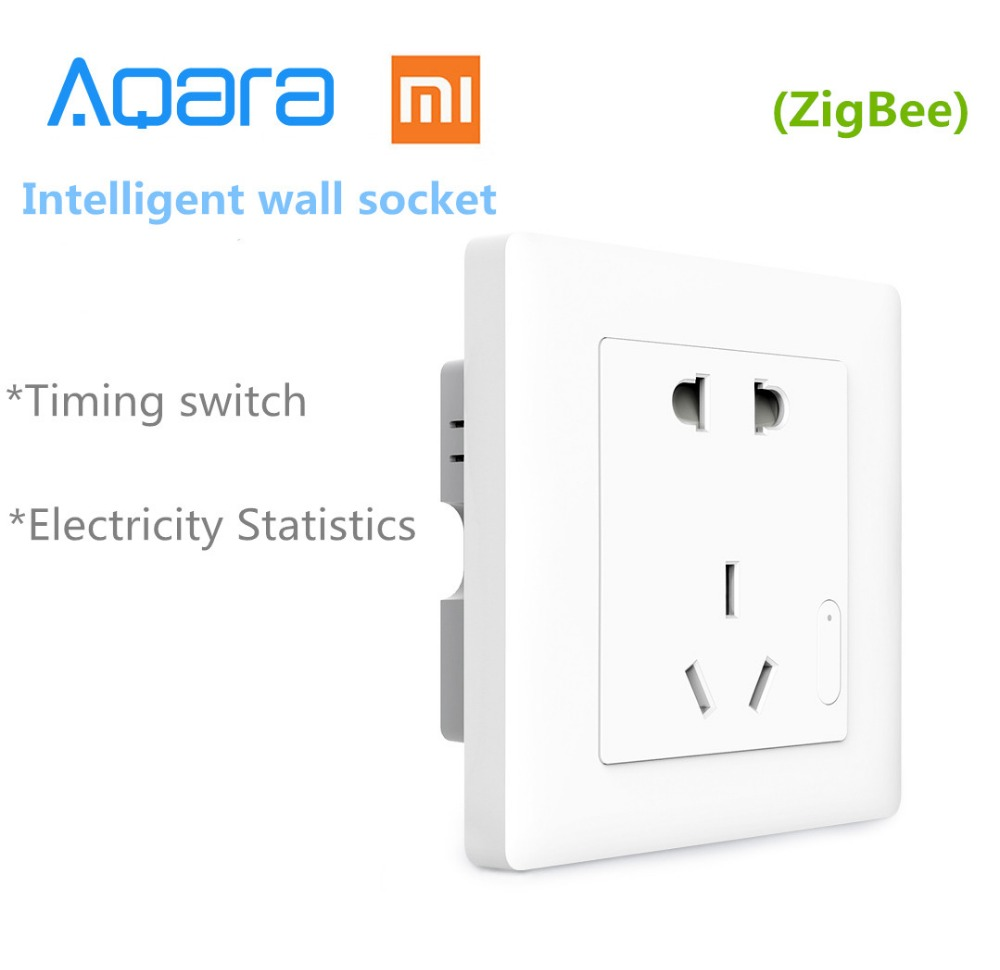 Original Xiaomi Smart home Aqara Smart Light Control ZiGBee Wall Switch Socket Plug Via Smartphone Xiaomi APP Wireless Remote-in Smart Remote Control from Consumer Electronics