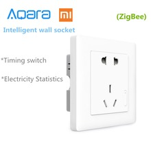 Original Xiaomi Smart home Aqara Light Control ZiGBee Wall Switch Socket Plug Via Smartphone APP Wireless Remote