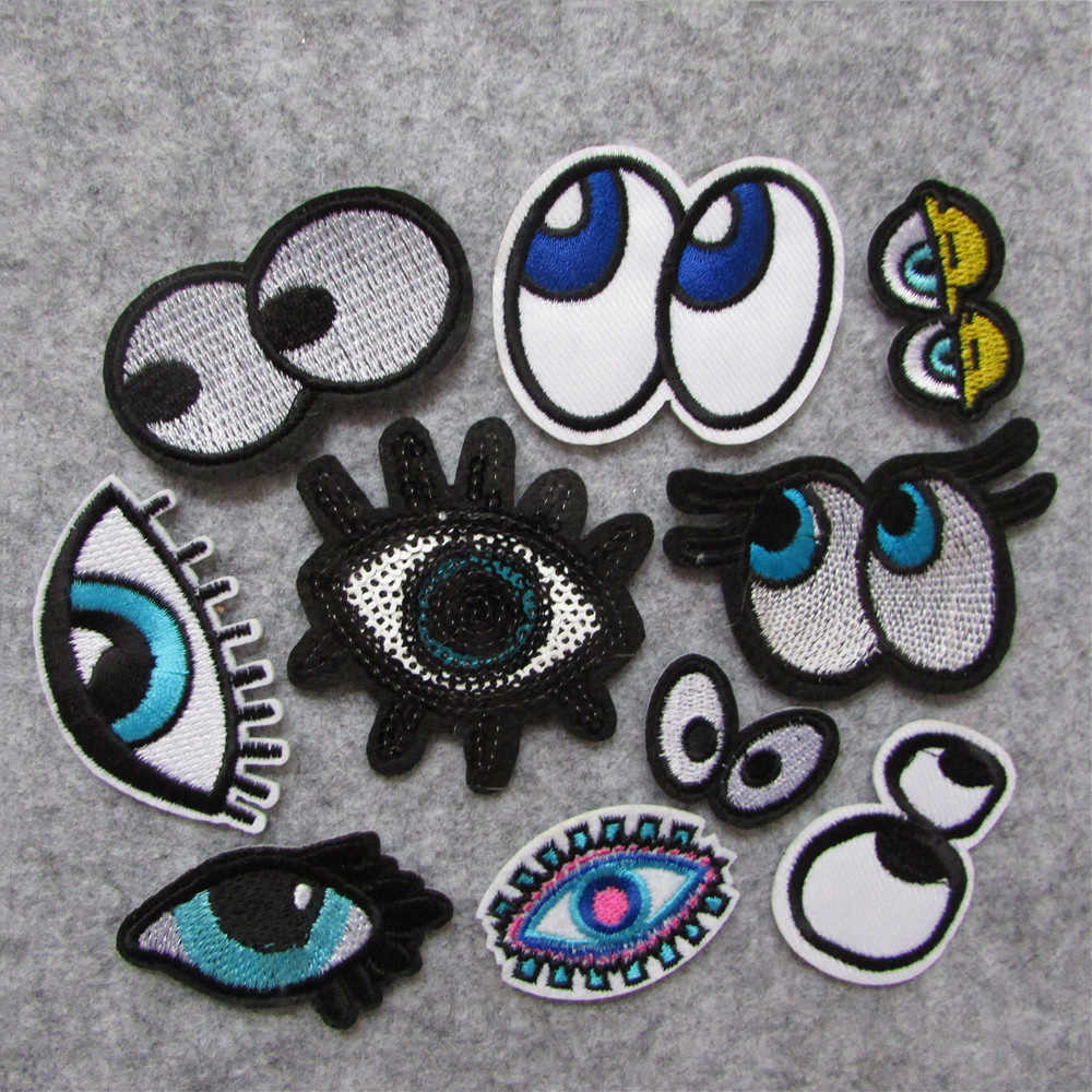 new style eye Patches For Clothing Iron On Embroidered Appliques DIY Apparel Accessories Patches For Clothing Fabric Badges