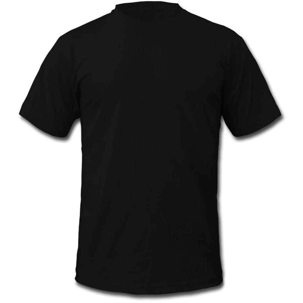 Black t shirt printing - 2017 New Fashion Design Customize Blank T Shirt 100 Cotton Black Navy White